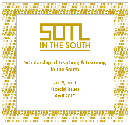 View Vol. 3 No. 1 (2019): SOTL in the South (special issue)