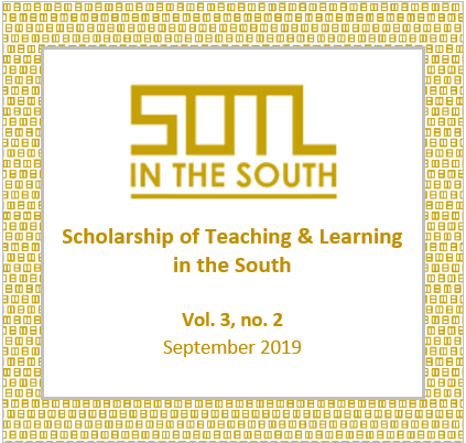View Vol. 3 No. 2 (2019): SOTL in the South